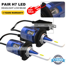 2X H7 CSP LED Headlight Bulb Conversion Kit Hi/Low Beam 6000K Super White 7200LM