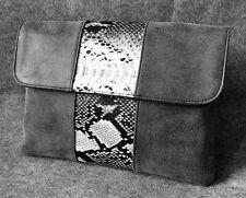 New Women Snake Skin Leather Punk Envelope Messenger Handbag Clutch Shoulder Bag