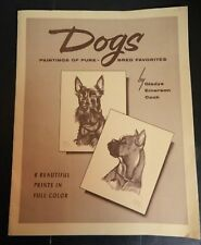 Vintage Portfolio of (7) Dogs Pure Bred Favorites Prints by Gladys Emerson Cook