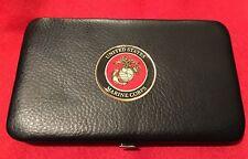 MARINES CORPS  USMC Ladies / Men's High Fashion Leatherette Slim Wallet Clutch