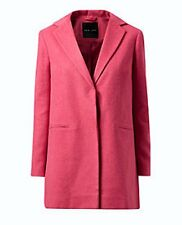 NEW LOOK SINGLE BREASTED BRUSHED FELT FABRIC SALMON PINK COAT / JACKET 16