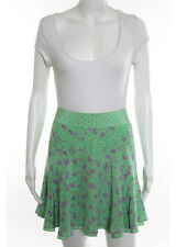 Marc Jacobs Multi Colored Silk Zipper Back Above Knee Length A-Line Skirt Size 8