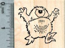 Monster Rubber Stamp, Cyclops, Halloween Series H33010 WM