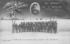 C5218 WW ITALO TURCA, 11/12/1911 GLI UFFICIALI DEL 4 BERSAGLIERI IN TRIPOLITANIA