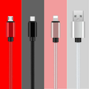 1M 2M 3M 2.1A Fast Charger Cable Micro USB Android Type C IOS Data Charging Cord