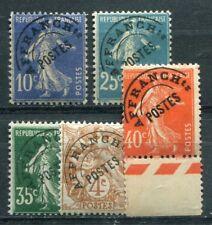 Timbre/Stamp - France - 5   Pré-ob  Neufs **/* - 1922/47 - TTB -  Cote:  + 73 €