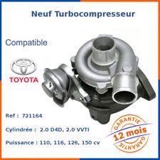 Neuf Turbo Turbocompresseur pour Toyota Rav 4 2.0 D4d 116 801891-5002S, 721164-6