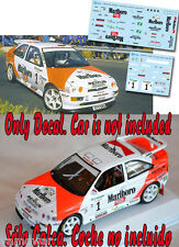 Decal 1:43 Armin Schwarz - FORD ESCORT COSWORTH - Rally El Corte Ingles 1998