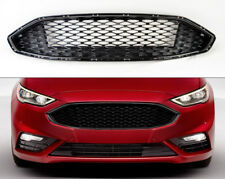 Gloss Black Front Bumper Honeycomb Mesh Grill for Ford Fusion 2017+