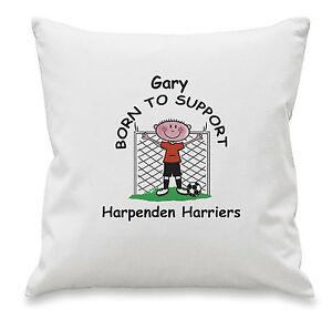 PERSONALISED FOOTBALL TEAM CUSHION COVER Gifts for ALL TEAMS Him Her Christmas
