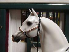 Jaapi GOLD/COPPER/SILVER & BLACK studded halter w/lead - fit Breyer model horses