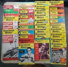 Lot: 39 Railroad Model Craftsman Magazines mixed issues '49 '53 '55 '56 '57