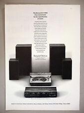 Bang & Olufsen Beosystem 4000 PRINT AD - 1973 ~ stereo, speakers