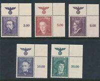 Stamp Germany Poland General Gov't Mi 096-100 Sc NB19-23 1942 WW2 War Era R MNH