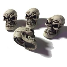 4 Punchy Skulls Valve Stem Caps Hot Rat Street Rod Skeleton Made in USA  08VC4
