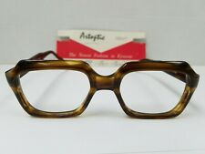 Vintage ARTOPTIC ITALIAN Eyeglasses Glasses Frames Rony Olive Amber 50/22