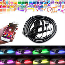 4pcs Car RGB LED Pickup Tube Strip Under Glow Body Neon Light Phone App Control