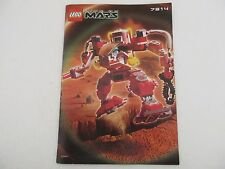 Manuel Instructions LEGO LIFE ON MARS - 7314 RECON MECH RP