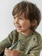 SOLD OUT Zara Toddler Mixed Knit Sweater, Blue Green, Size 4-5 Years