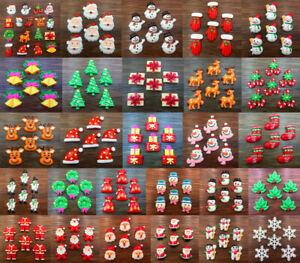 DIY Handmade 5/20pcs Cute Christmas Flatback Resin Cabochon Scrapbooking/Crafts