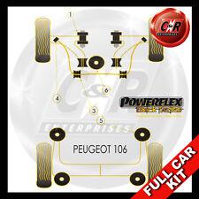 Peugeot 106 & 106 GTi/Rallye Powerflex Black Complete Bush Kit