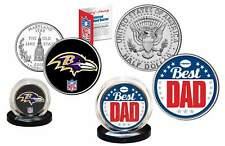Best Dad - BALTIMORE RAVENS 2-Coin US Set Quarter & JFK Half Dollar NFL LICENSED