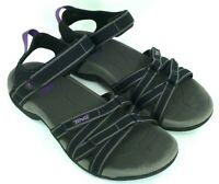 TEVA TIRRA Women's Size 8 Black Purple Ankle Strap Water Sports Sandals 4266