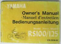 YAMAHA RS100/125 1974 #478-28199-80 Motorcycle Owners Handbook