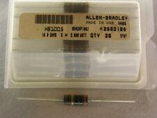 25 Allen Bradley RC42GF100J 10 Ohms 5% 2W Carbon Comp Resistors