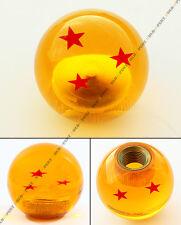 M10 X 1.25 JDM DRAGON BALL Z RED 3 STAR STYLE ACRYLIC ROUND SHIFT KNOB FOR MAZDA