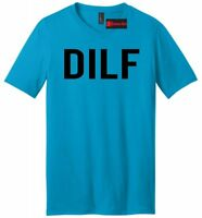 DILF Funny Mens V-Neck T Shirt Dad Gift Father Husband Gift Tee Shirt