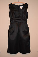 Watters and Watters black cocktail formal dress 2 4 women's Excellent v neck