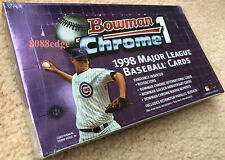 1998 BOWMAN CHROME SERIES 1 BASEBALL FACTORY SEALED HOBBY BOX: ROOKIE REFRACTORS