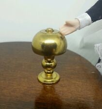Vintage 1:12 Dollhouse Miniature Brass Desk Lamp (non electric)