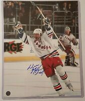 Wayne Gretzky HOF NEW YORK RANGER  SIGNED AUTOGRAPHED 11x14 GOAL PHOTO COA