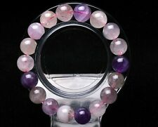 11mm Natural Brazil Super Seven 7 Melody Amethyst Crystal Round Beads Bracelet