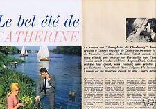 Coupure de presse Clipping 1964 Catherine Deneuve   (7 pages)