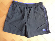 (438DEC) M W32 *SLAZENGER* Ace black sports shorts mens