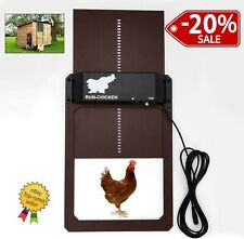 Automatic Chicken Door with Light Sensor Opening Timer Coop Opener Chicken House