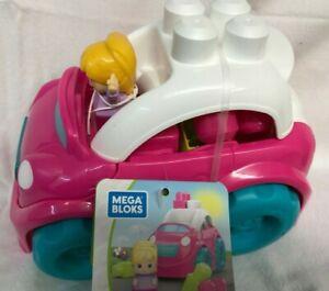 Mega Bloks First Buildersl Pink  convertable car Fisher price DYT62 ~Brand NEW~