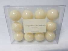 Pottery Barn Set of 12 Round Votive Candles 1 inch Sphere Peralized Finish New