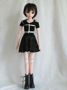 black and white T & skirt set for 60 cm 1/3 BJD Smart Doll handmade by JEC