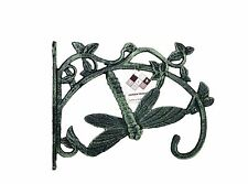 Cast Iron Dragonfly Bracket Hanger Basket Pot Lamp Hook Solid Verdigris SREDA