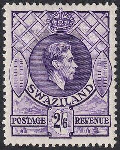 Swaziland 1938 KGVI 2sh6d Bright Violet p13½x13 Mint SG36 cat £35