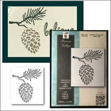 Pinecone Collage metal die Memory Box cutting dies 99793 trees pine cone branch