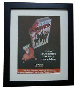 RESERVOIR DOGS+Movie+Film+POSTER+AD+RARE+ORIGINAL 1996+FRAMED+FAST GLOBAL SHIP