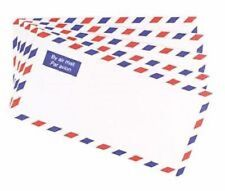 50 x Airmail Printed Enevlopes DL Size Strong Lightweight Posting International