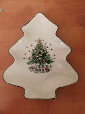 Salem Christmas Eve Tree Shape  Porcelain China UPPER Replacement Two Tier Plate
