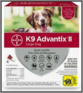 K9 ADVANTIX 2 FOR LARGE DOG ( 4 MONTH SUPPLY ) 21- 55 LBS