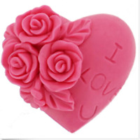 3D Love Heart Rose Flower Silicone Mold Cake Decorating Cupcake Mould hotsale